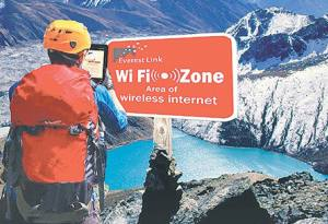 internet services in the trekking trails of nepal