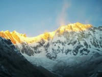 annapurna base camp trekking sunrise view