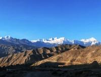 annapurna himalayan range from mustang