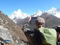 capturing ama dablam for memories