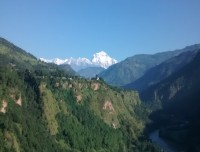 Mt Dhaulagiri from Baglung with Kalagandaki River