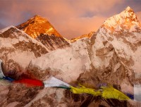 Sunset View of Mt Everest and Nuptse from Kalapatthar