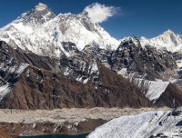 Mt Everest and Gokyo Lake from Gokyo-Ri