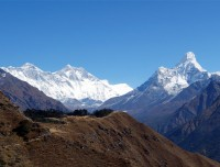 View of Everest Himalayas form Syangboche