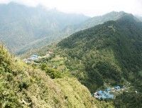 upper and lower ghorepani from poon hill