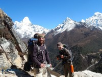happy trekkers of ama dablam base camp trek
