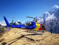 Heli on Syangboche Way to Everest Base Camp