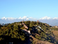 himalaya view  from nagarkot
