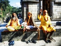 hindu monks of pashupatinath
