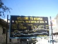 information board of marpha