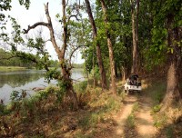 jeep safari in chitwan national park nepal golden triangle tour