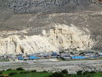 jomsom bazaar with airport