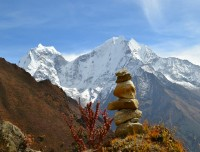 Mt Kangtega from Everest View Point of Syangboche