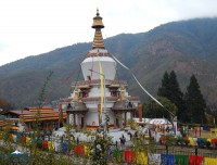 memorial chorten of thimpu bhutan