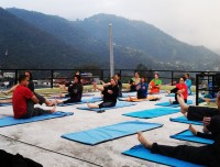 Morning Yoga Class in Pokhara