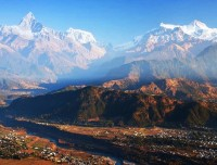 Mt Fishtail and Pokhara from Sarangkot