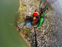 paragliding lake and pokhara