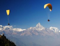 paragliding with himalaya