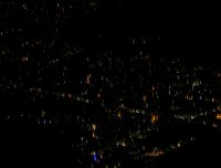pokhara at night from sarangkot