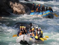 rafting in trisuli river, nepal