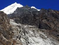 rocky terrain land of langtang trekking