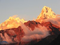 sun set view of short mohare danda trek