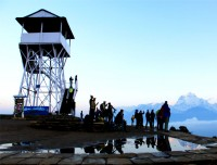 himalayan view from poon hill visitor park