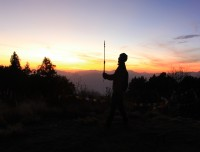 sunset from poon hill