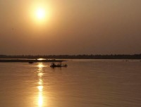 sunset view from kosi river