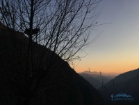 Sunset view of Short ABC Trek