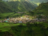 thabang village in spring guerrilla trekking trail nepal