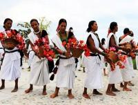 tharu traditional dance in chitwan national park