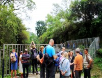 tourist crowed in davis fall, pokhara