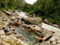 Busy Natural Hot Spring of Jhinu
