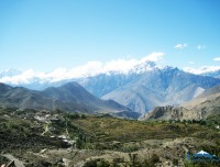 view from muktinath temple