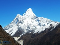 view from ama dablam base camp trekking