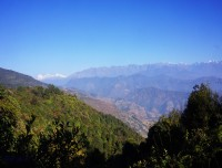 view from chisapani nagarkot trek