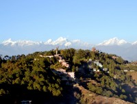 himalayan view from nagarkot