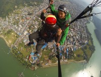view from paragliding pokhara phewa lake