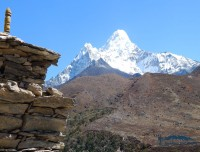 view of ama dablam from lower pangboche