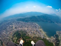 virtical view from paragliding