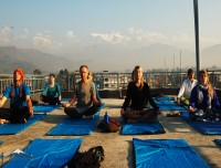 Yoga Before Trek In Pokhara
