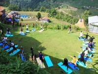 Yoga Class in Trekking