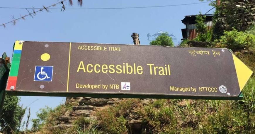 disabled trekking trail