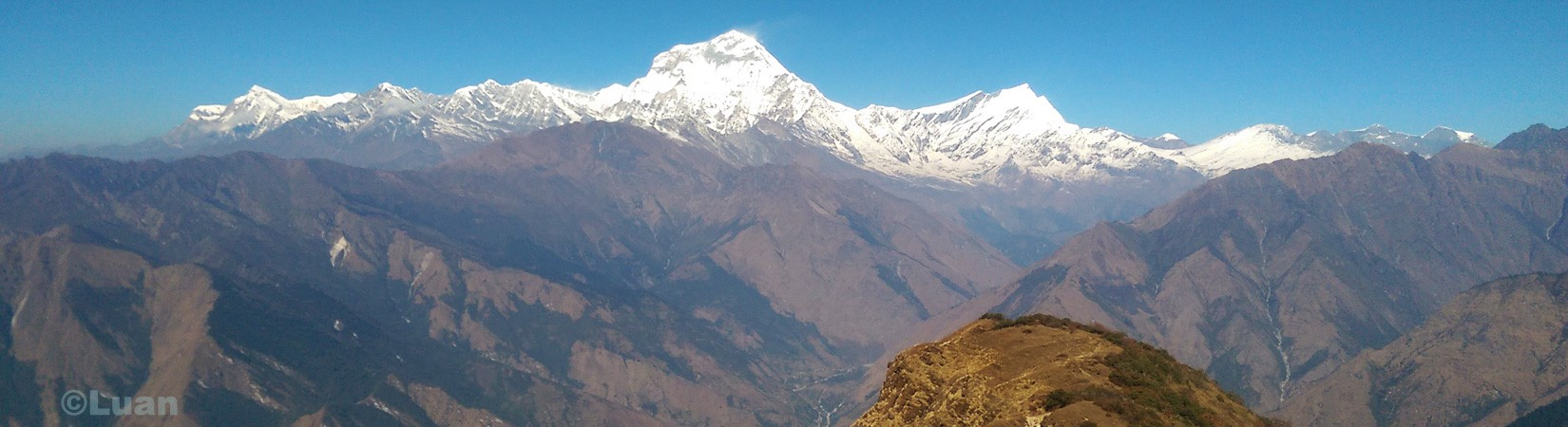 mt dhaulagiri from khopara ridge trekking