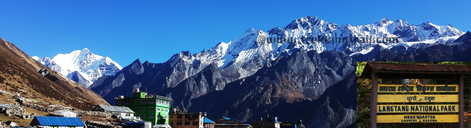 Views of Langtang Himalayas Range From Kyanjin Gompa; Final Destination of Langtang Valley Trekking