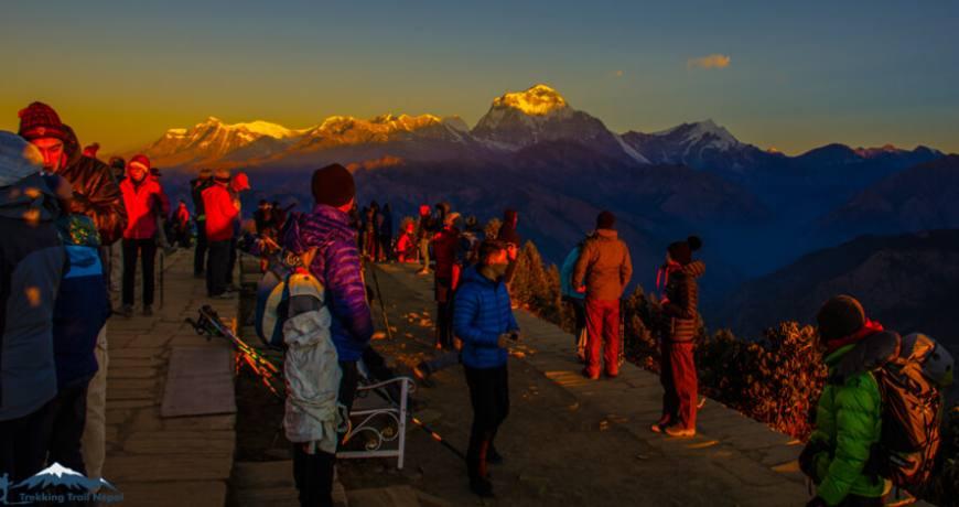 Nepal trekking in January February