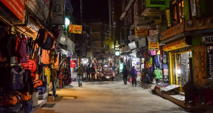 popular walking street in kathmandu