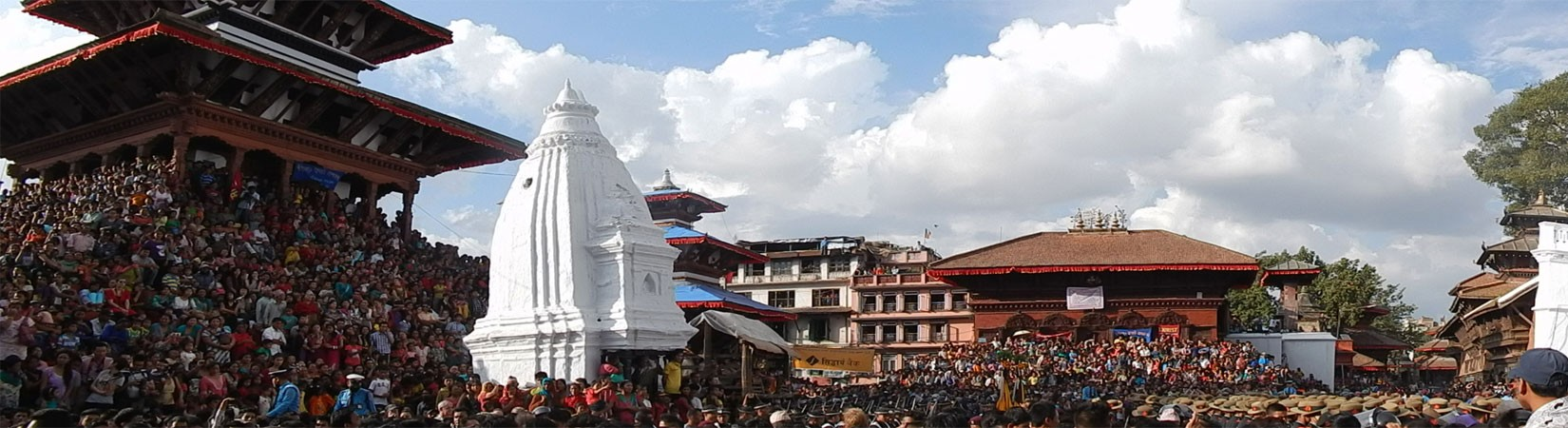 A Glimpse of Indra Jatra Festival in Kathmandu Durbar Square.