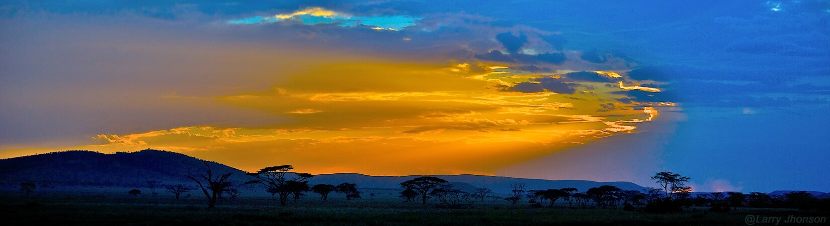 Sun set view, Tarango Nationla Park in Tanzania